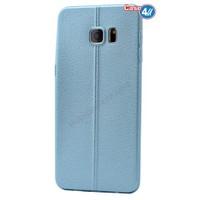 Case 4U Samsung Galaxy S6 Parlak Desenli Silikon Kılıf Mavi