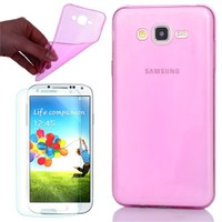 Cep Market Samsung Galaxy S3 Kılıf 0.2Mm Pembe Silikon - Cam