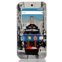 CoverZone General Mobile Android One 4G Kılıf Pencereli Taksim Tramvay