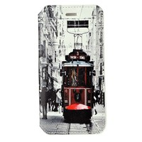 CoverZone İphone 6 Kılıf Kapaklı Resimli Taksim Tramvay