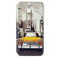 CoverZone İphone 6 Kılıf Kapaklı Resimli New York Taxi