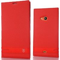 Microsoft Lumia 540 Kılıf Elite Deri Kırmızı