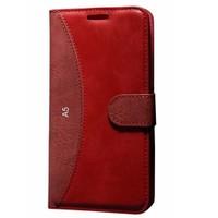 Cep Market Samsung Galaxy A5 Kılıf Standlı Cüzdan (Kırmızı)