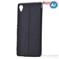 Case 4U Sony Xperia M4 Aqua Desenli Silikon Kılıf Siyah