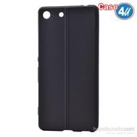 Case 4U Sony Xperia M5 Desenli Silikon Kılıf Siyah