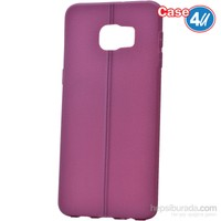 Case 4U Samsung Galaxy S6 Edge Plus Desenli Silikon Kılıf Mor