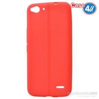 Case 4U Vodafone Smart 6 Desenli Silikon Kılıf Kırmızı