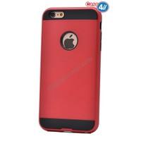 Case 4U Apple İphone 4S Korumalı Kapak Kırmızı