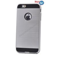 Case 4U Apple İphone 5S Korumalı Kapak Gümüş