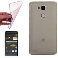 Cep Market Huawei Ascend Mate 7 Kılıf 0.2Mm Antrasit Silikon + Cam