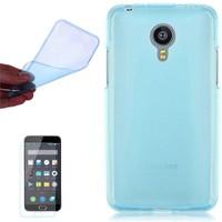 Cep Market Meizu Mx 4 Pro Kılıf 0.2Mm Mavi Silikon + Cam