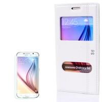 Cep Market Samsung Galaxy S6 Kılıf Çift Pencere Magnum + Cam