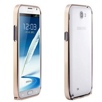 Microsonic Samsung Galaxy Note 2 Ultra Thin Metal Bumper Kılıf Sarı