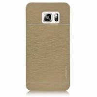 Kılıfshop Samsung Galaxy S6 Edge Metal Kılıf (Gold)