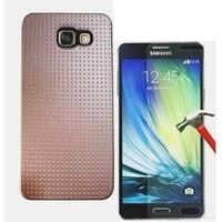Kılıfshop Samsung Galaxy A3 2016 Silikon Kılıf (Gold) + Ekran Koruyucu