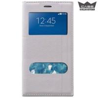 CaseCrown Samsung Galaxy J7 Gizli Mıknatıslı Çift Pencereli Magnum Kılıf Beyaz