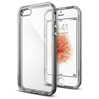 Spigen Apple iPhone Se/5S/5 Kılıf Neo Hybrid Crystal Gun Metal