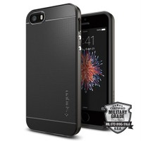 Spigen Apple iPhone Se/5S/5 Kılıf Neo Hybrid Gun Metal