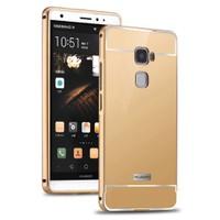 Microsonic Huawei Ascend Mate S Kılıf Luxury Mirror Gold