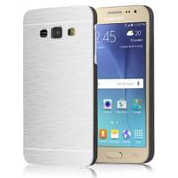 Microsonic Samsung Galaxy J1 Ace Kılıf Hybrid Metal Gümüş