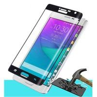 Microsonic Samsung Galaxy Note Edge 3D Kavisli Temperli Cam Ekran Koruyucu Film Siyah