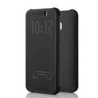 Case 4U Htc One M9 Dot Kapaklı Kılıf Siyah