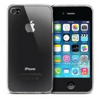 Case 4U Apple İphone 4 Ultra İnce Silikon Kılıf Şeffaf