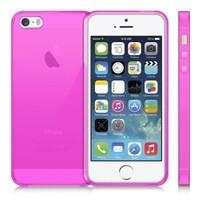 Case 4U Apple İphone 5S Ultra İnce Silikon Kılıf Pembe