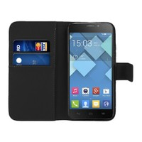 Microsonic Cüzdanlı Deri Alcatel One Touch İdol X Kılıf Siyah