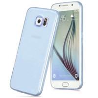 Cepsesuar Samsung Galaxy S6 Edge Kılıf Silikon 0.2 Mm Mavi