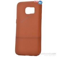 Case 4U Samsung Galaxy S7 Matrix Silikon Kapak Kahverengi