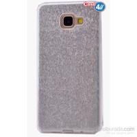 Case 4U Samsung A510 Galaxy A5 Shining Silikon Kılıf Gri