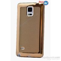 Case 4U Samsung Galaxy Note 3 Hasır Desenli Ultra İnce Silikon Kılıf Altın