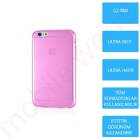 Mobile World iPhone 6 Silikon + Cam Ekran Koruyucu + Kalem Seti Pembe - 2839