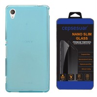 Cepsesuar Sony Xperia M4 Aqua Kılıf Silikon 0.2 Mm Mavi - Cam