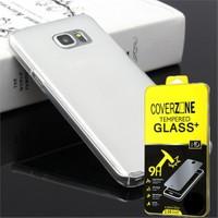 Coverzone Samsung Galaxy A5 Kılıf 2016 A510 0,2 Mm İnce Silikon + Cam