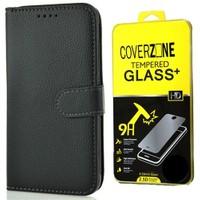 Coverzone Samsung Galaxy J1 Kılıf Kart Gözlü Cüzdan Siyah - Cam