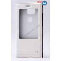 Case 4U Huawei G8 Pencereli Kılıf Beyaz