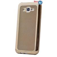 Case 4U Samsung Galaxy J2 Hasır Desenli Ultra İnce Silikon Kılıf Altın