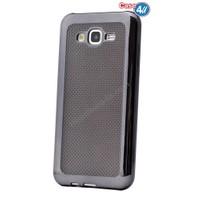 Case 4U Samsung Galaxy J5 Hasır Desenli Ultra İnce Silikon Kılıf Siyah