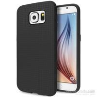 Case 4U Samsung Galaxy S6 Dot Style Silikon Kılıf Siyah