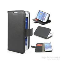 Case 4U Samsung S7390 Galaxy Trend Lite Cüzdan Kılıf Siyah