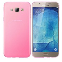 Case 4U Samsung Galaxy A8 Ultra İnce Silikon Kılıf Pembe