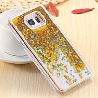 Coverzone Samsung Galaxy Note 5 Kılıf Simli Sert + Cam