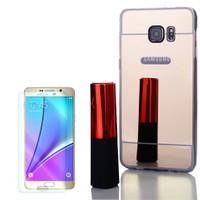 Cep Market Samsung Galaxy Note 5 Kılıf Aynalı Silikon + Cam