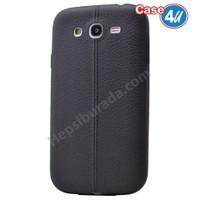 Case 4U Samsung Galaxy S3 Desenli Silikon Kılıf Siyah