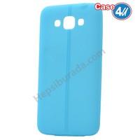 Case 4U Samsung Galaxy Grand Max Desenli Silikon Kılıf Mavi