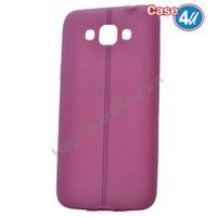 Case 4U Samsung Galaxy Grand Max Desenli Silikon Kılıf Mor
