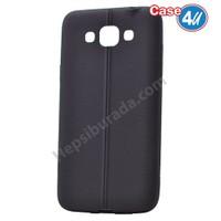 Case 4U Samsung Galaxy Grand Max Desenli Silikon Kılıf Siyah
