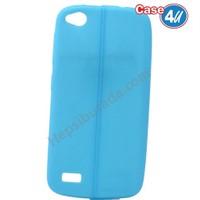 Case 4U General Mobile Discovery Desenli Silikon Kılıf Mavi